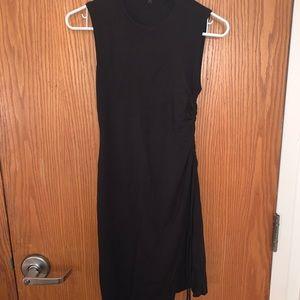 Theory women's stretchy black mini dress (small)